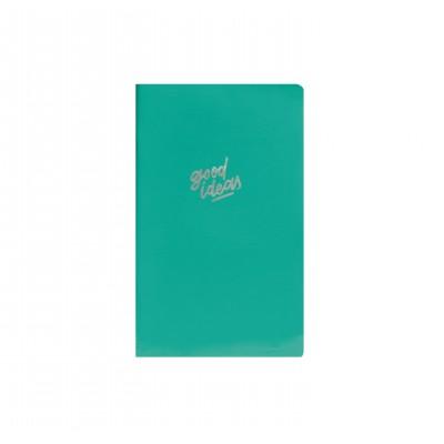 Libreta Cosida 13x21 cm Green Charol x80 hojas lisas Mooving