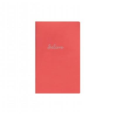 Libreta Cosida 13x21 cm Red Charol x80 hojas punteadas Mooving