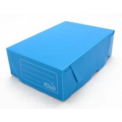 Caja archivo de plastico oficio 12 tapa volcada Azul Plana