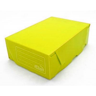 Caja archivo de plastico oficio 12 tapa volcada Amarilla Plana