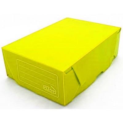 Caja archivo de plastico legajo 12 tapa volcada Amarillo Plana