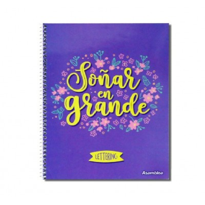 Cuaderno Espiralado A4 para Lettering  x70 hojas punteadas de 90 gramos tapa semi rígida Asamblea