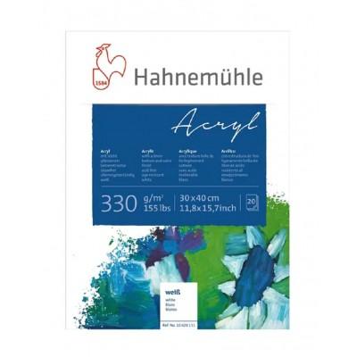 Block Acrílico 30x40 cm de 330 gramos Acryl x20 Hojas Hahnemühle