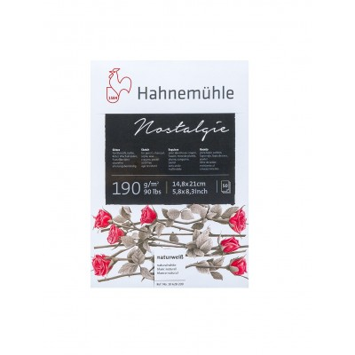 Block Boceto A5 Nostalgie blanco natural de 190 gramos x30 hojas Hahnemühle