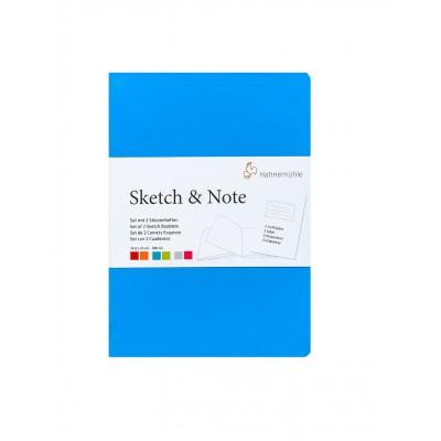 Sketch Note A5 Blue Bundle Blanco Natural Rugosidad Agradable de 125 gramos x20 hojas Hahnemühleojas Hahnemühle
