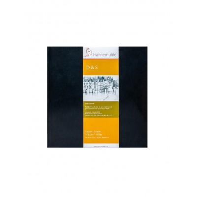Sketch Book 14x14 cm D&S Black de 140 gramos x80 hojas Hahnemühle