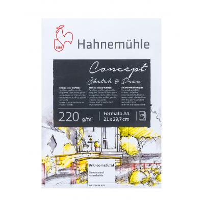 Block Dibujo A4 Concept de 220 gramos x20 hojas Hahnemühle