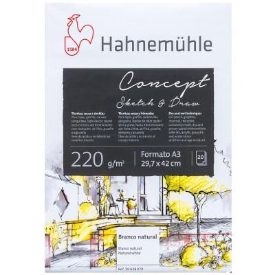 Block Dibujo A3 Concept de 220 gramos x20 hojas Hahnemühle