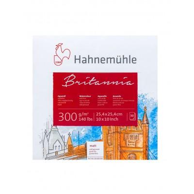 Block Acuarela 25,4x25,4 cm Britannia Blanco Natural de 300 gramos x30 hojas Hahnemühle