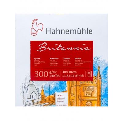 Block Acuarela 30x30 cm Britannia Blanco Natural de 300 gramos x30 hojas Hahnemühle