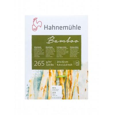 Block Multitécnica 24x32 cm Mixed Media 90% Bambú+10% Algodón Blanco Natural de 265 gramos x25 hojas Hahnemühle