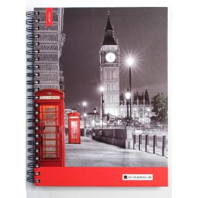 Cuaderno con espiral A4 tapa dura Mix x100 hojas lisas Cita Kit