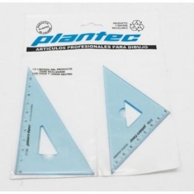 Set escuadras 2 x 12 cm Plantec
