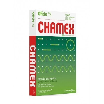 Resma Papel Oficio x500 hojas de 75 grs Chamex