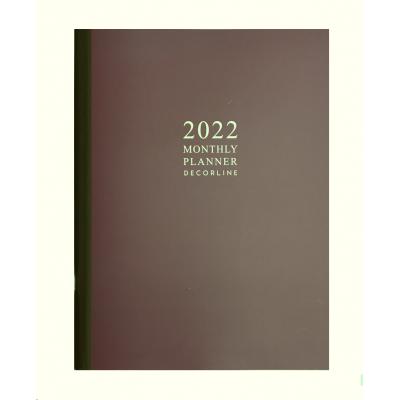 Planificador mensual 19x25 cm Classic Marrón Decorline