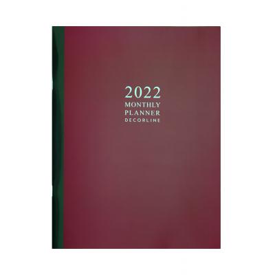 Planificador mensual 19x25 cm Classic Bordeaux Decorline