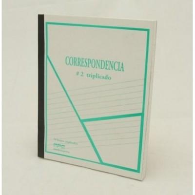 Cuaderno correspondencia nº 2 triplicado x 50 hojas