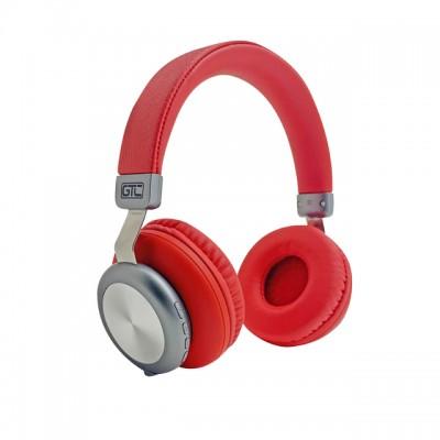 Auricular Bluetooth Rojo & Plateado Vintage Style GTC