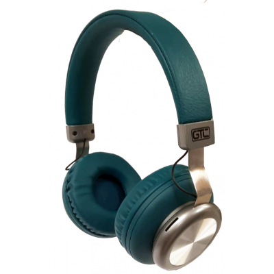 Auricular Bluetooth Verde & Plateado Vintage Style GTC