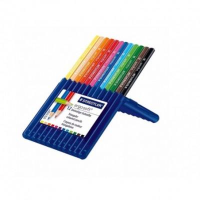 Lápices Ergo Soft 157 SB x12 colores estuche plástico Staedtler