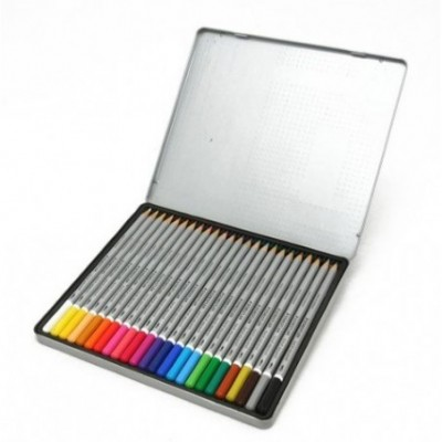 Lápices Acuarelables Karat Aquarell x24 colores lata Staedtler