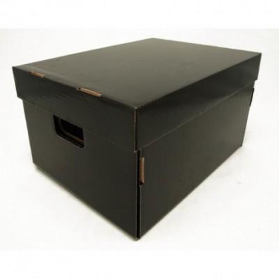 Caja de archivo americana alta 42x32x25 cm negro