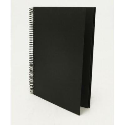 Cuaderno espiralado hojas negras oficio 130gr