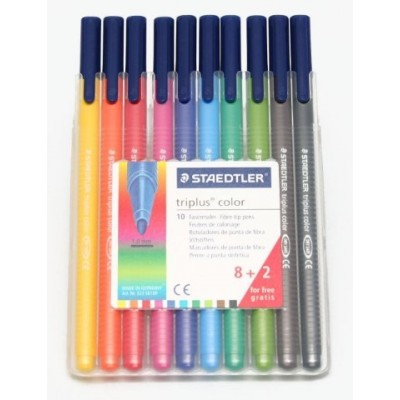 Set Marcador Triplus Fibre Pen 323 x10 unidades Staedtler