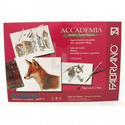 Block academia 120gr 35x50cm 20 hjs Fabriano
