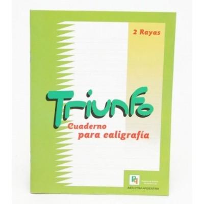 Cuaderno de caligrafia x 24 hojas Triunfo/Tango