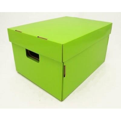 Caja de archivo americana alta 42x32x25 cm verde manzana