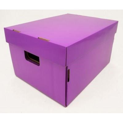 Caja de archivo americana alta 42x32x25 cm violeta