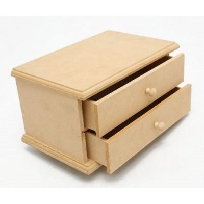 Caja alhajero 2 cajones 19,5x10x13cm El Tigre