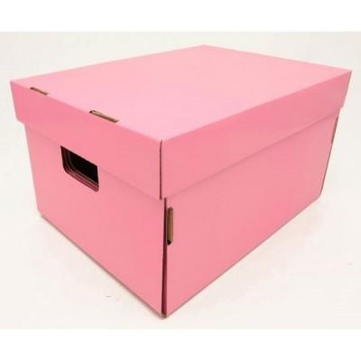 Caja de archivo americana alta 42x32x25xcm rosa