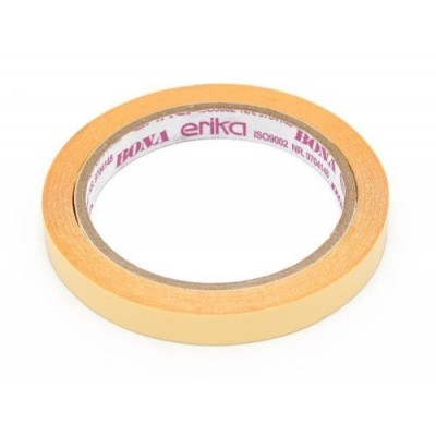 Cinta Adhesiva Bona DOBLE FAZ amarilla 12 mm x15 metros Erika