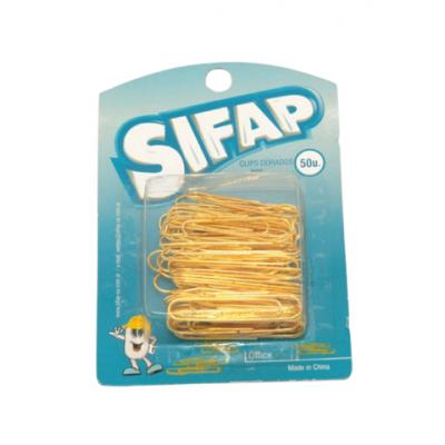 Clips Nº6 DORADOS blister x50 unidades Sifap