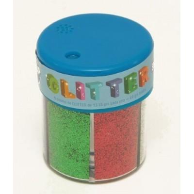 Brillantina en pote x 6 colores metalicos Sifap