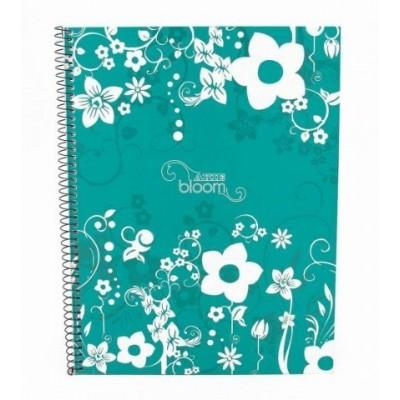 Cuaderno con espiral A4 tapa dura bloom x 80 hojas cuadriculado Arte