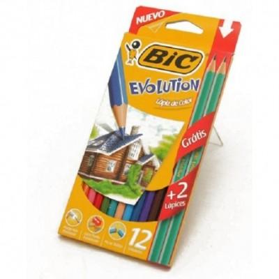 Lápices Bic Evolution x12...