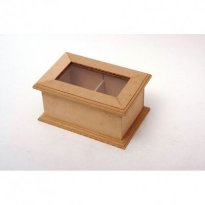 Caja de te decorativa con vidrio nº 1 18x12x9cm El Tigre
