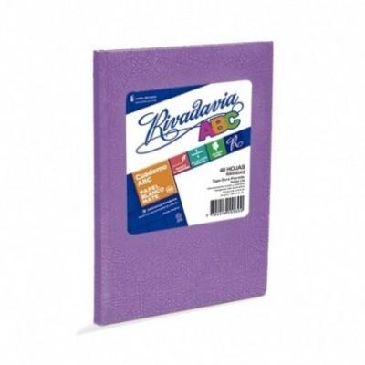Cuaderno ABC 19x23 cm rayado LILA x48 hojas Rivadavia