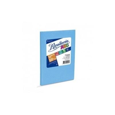 Cuaderno ABC 19x23 cm rayado CELESTE x48 hojas Rivadavia