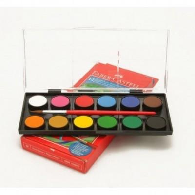 Acuarelas x 12 colores Faber-Castell