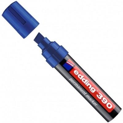 Marcador permanente punta bisel extra gruesa Art 390 AZUL Edding