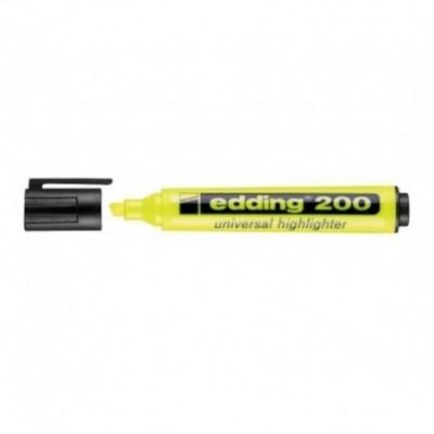 Resaltador Highlighter 200 AMARILLO punta biselada Edding