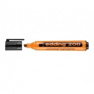 Resaltador Highlighter 200 NARANJA punta biselada Edding