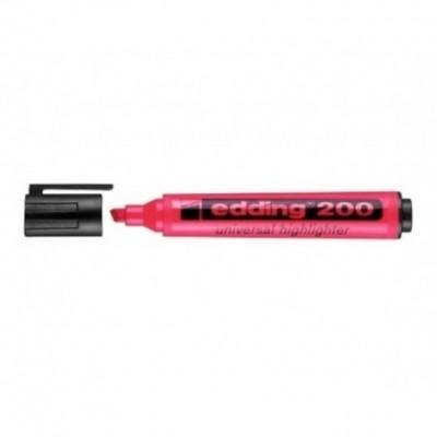 Resaltador Highlighter 200 ROSA punta biselada Edding