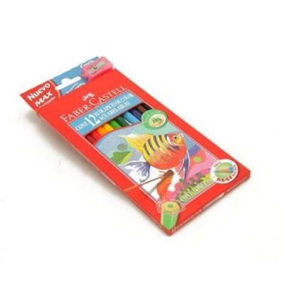 Lapices de color x 12 colores largos acuarelables Faber-Castell