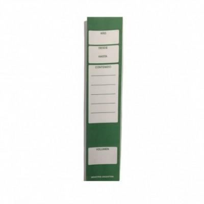 Lomos adhesivos para biblioratos x 24 unidades Verde Jolly