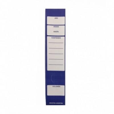 Lomos adhesivos para biblioratos x 24 unidades Azul Jolly